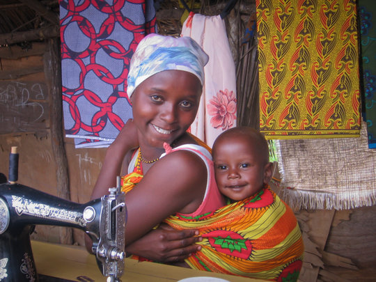 Young single mother with a sustainable skill