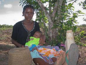 Child-mother in Kenya