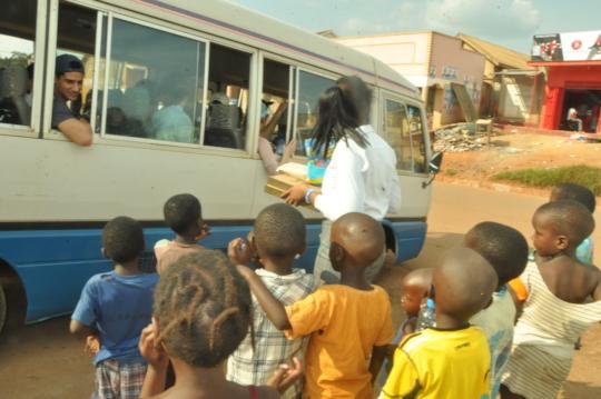 children saying bye