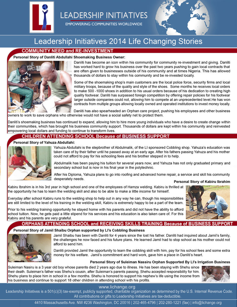 LI Life Changing Stories for 2014 part 2
