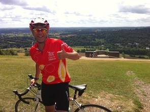 One of our riders on Box Hill, Surrey