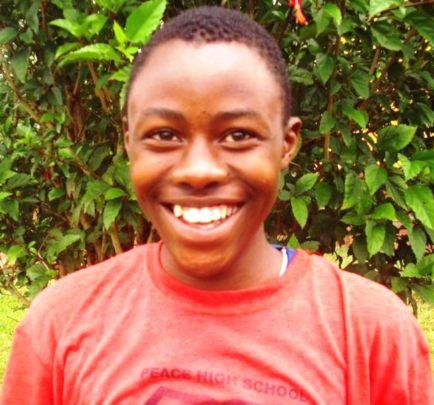 Happy student of edapo in secondary school