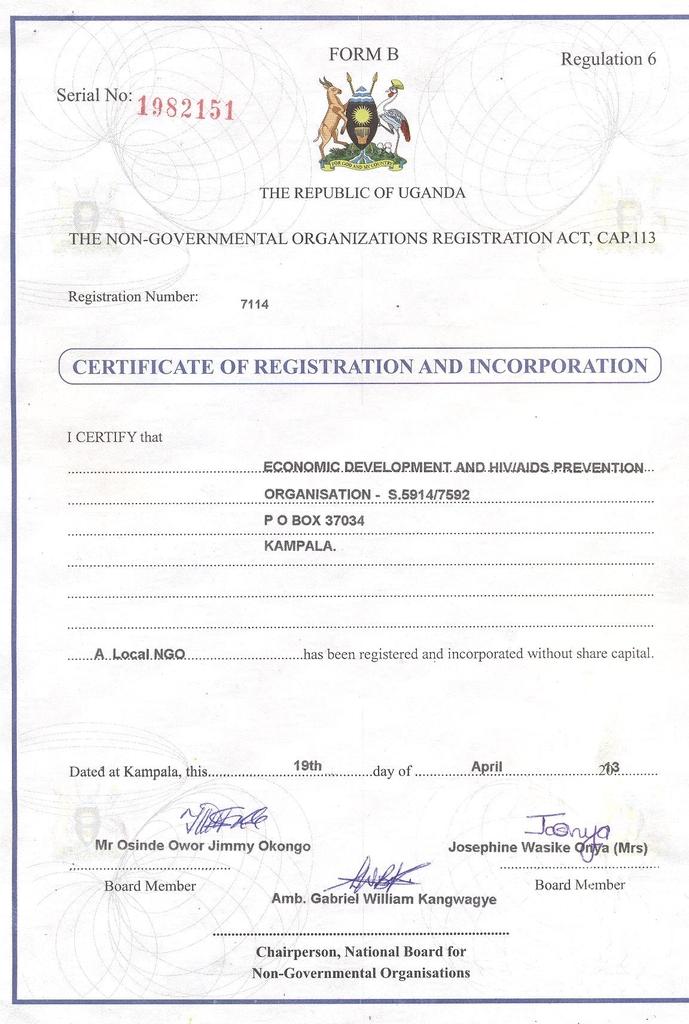 New Status of EDAPO -ORG