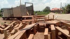 lOADING SCHOOL MATERIALS FROM OLD TO NEW SITE