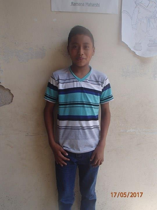 Eric at our school, photo taken 2017