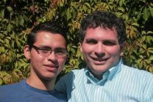 Saul with Jeff Carreira during Meditation Marathon