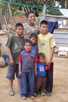 Eric (center) in this photo we took in 2010