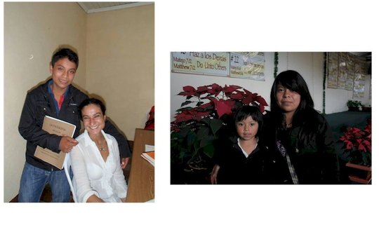 Mario (left) and Fabi with her sister