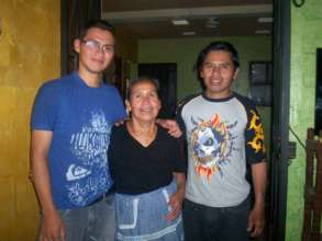 Saul with his Grandma and dad - taken 2013