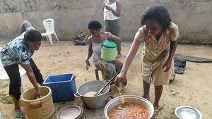 Women acquiring cooking skills - they need help