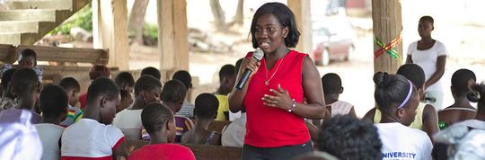"Grace Amponsah leading her ""New Dawn"" initative"