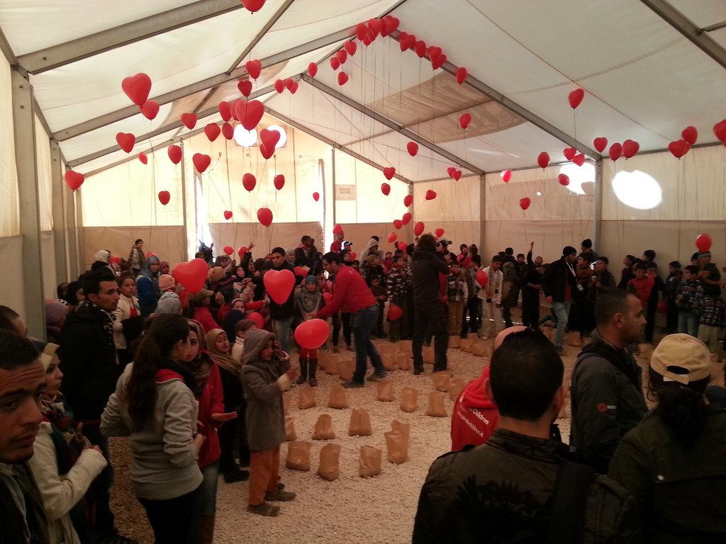 Syria vigil at the Zaatari refugee camp