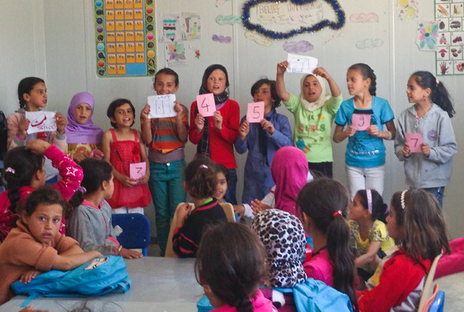 Children in class at the RI education center