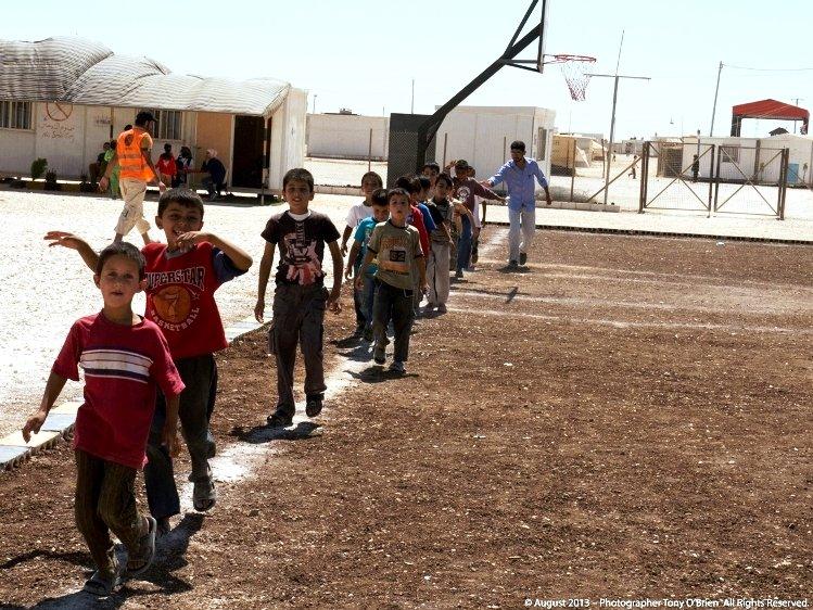 Boys attending recreational activities