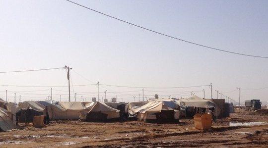 The expansive Za'atari Refugee Camp, Jordan