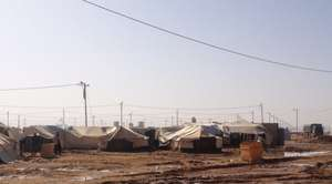 The expansive Za'atari Refugee Camp, Jordan
