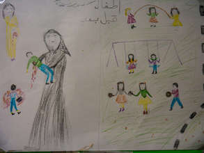 A Child Illustrates the Violence in Syria