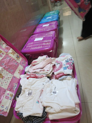 baby baskets given to each mother in the program