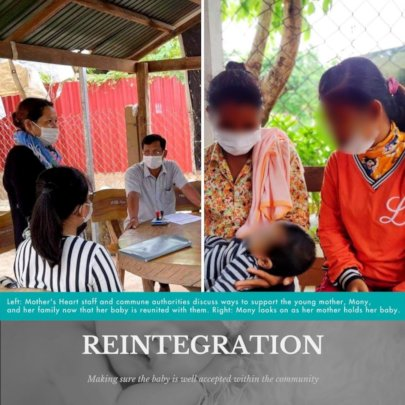 Reintegration. Making sure the baby is accepted.