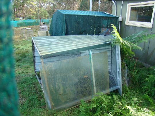 Shelters blown over in the Macropod enclosure
