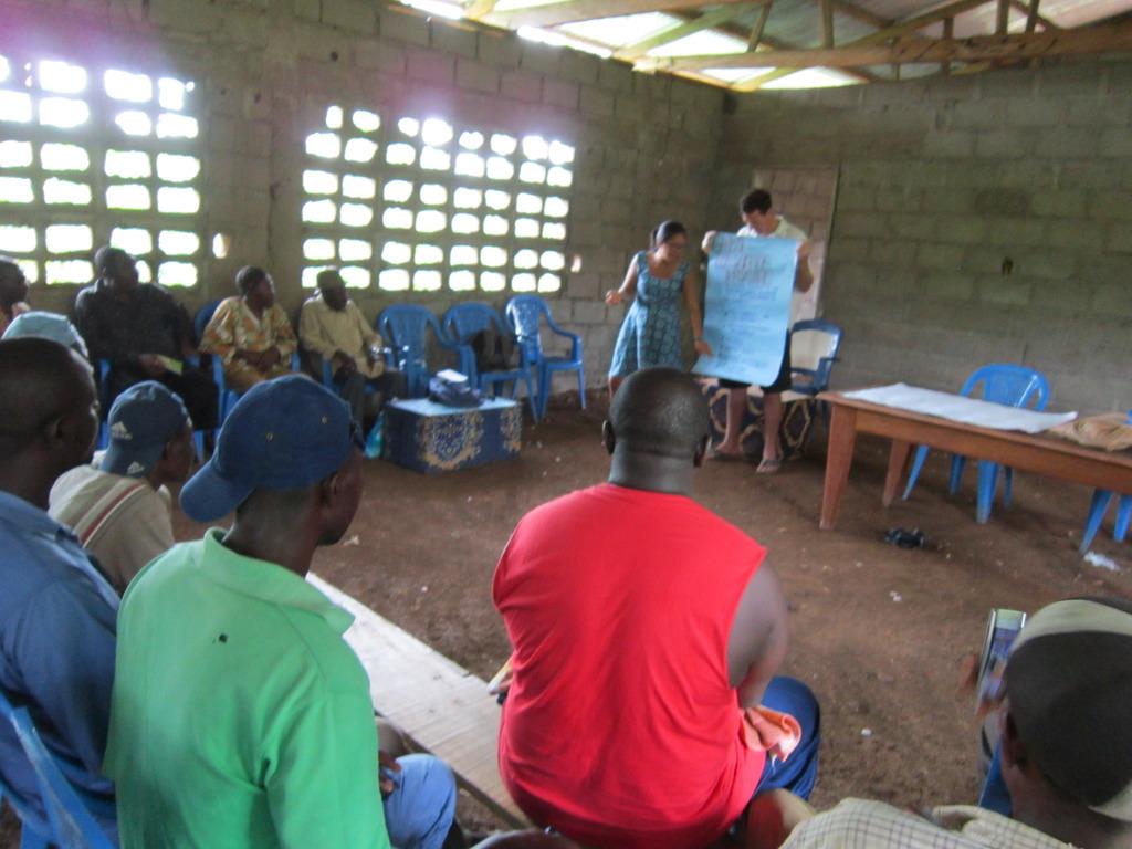 Ekombe Tradtional council listen to GCI staff