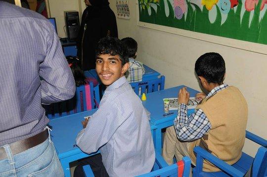 Boy in the class