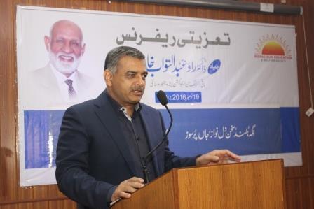 Birg. Zafar Yasin Babar sharing his views on ref.