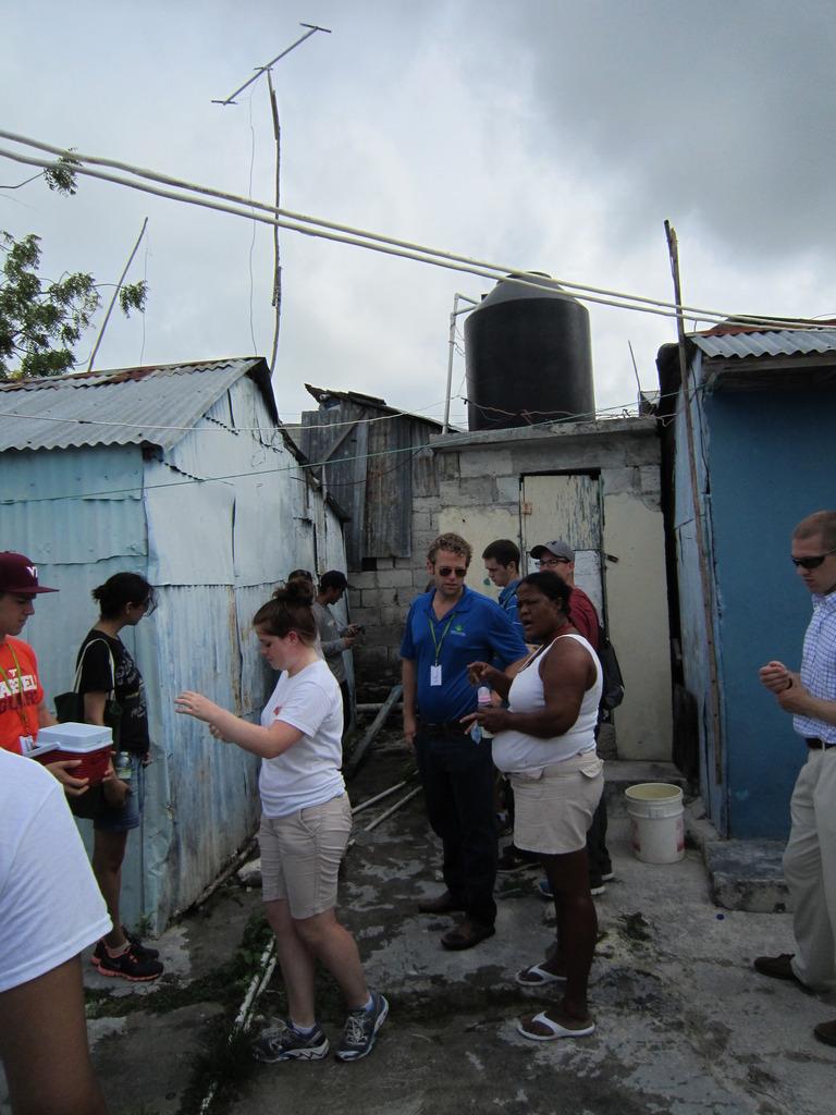 CEE engineers testing well water in Domingo Maiz