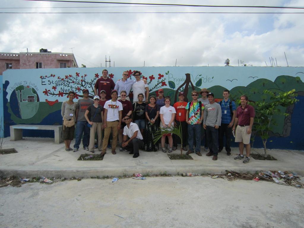 CEE engineers with community leader Uridy Marte
