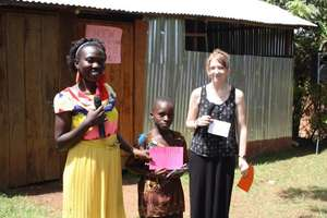 "teacher Brenda & Ellen with ""Most Helpful"" student"