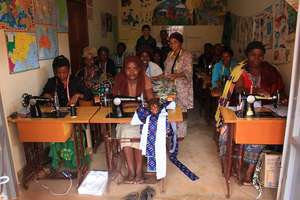 Women's Collective with their new sewing machines