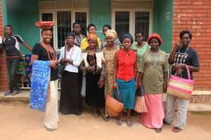 Women's Collective members with their products