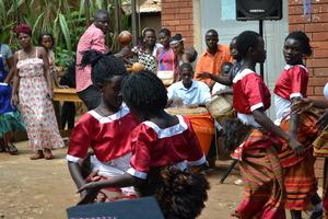 Buganda dancing at the graduation