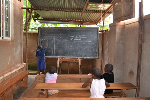 Children playing in our large classroom