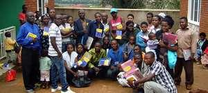 Intermediate students recieve dictionaries