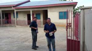 Mark and Steve, Americans volunteering in Ghana