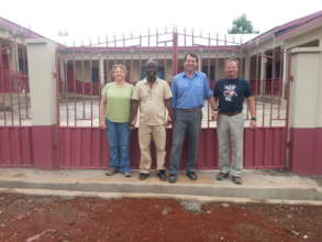 Volunteers who worked on the facility recently