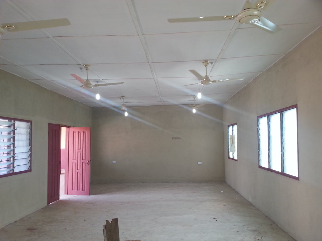 Lights and Fans installed in some rooms