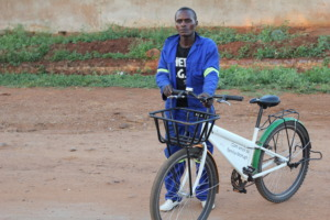 On his way to work - by BICYCLE