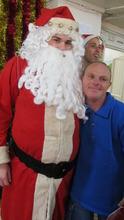 Santa always makes people happy