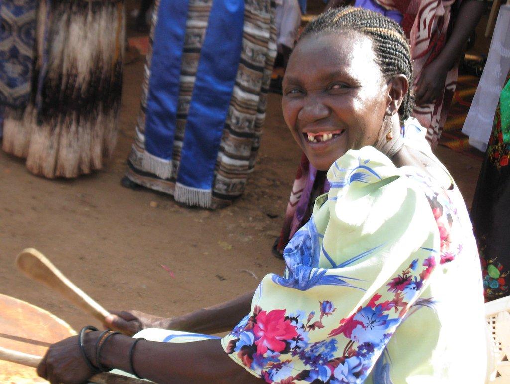 Santa, one of our Jinja women beaders.