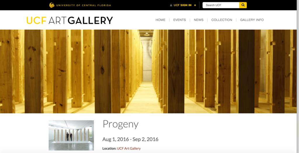 Progeny Exhibition at UCF