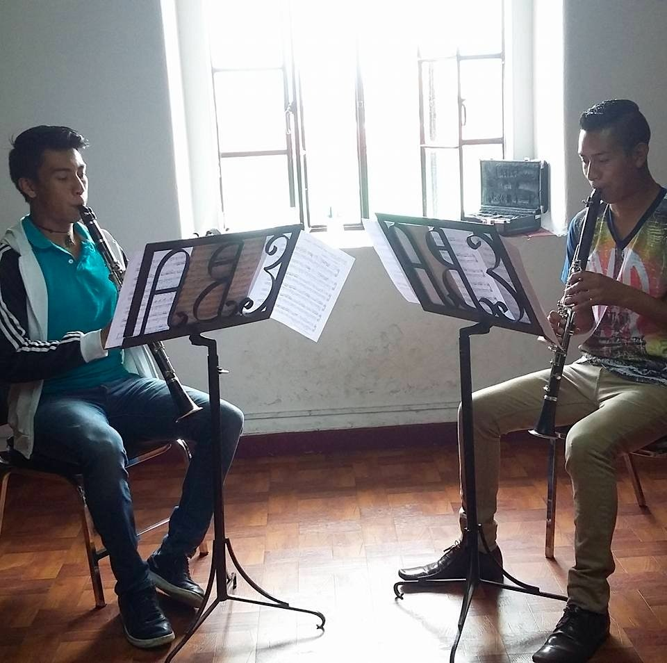 Angel and Emmanuel in Rehearsal Session in Oaxaca