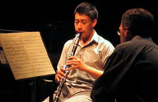 Angel Montellano and Chris Davis in recital