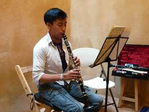 Angel Montellano in Clarinet Lesson