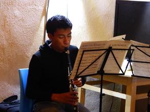 Student Angel Atilano Montellano Urbieta in Lesson