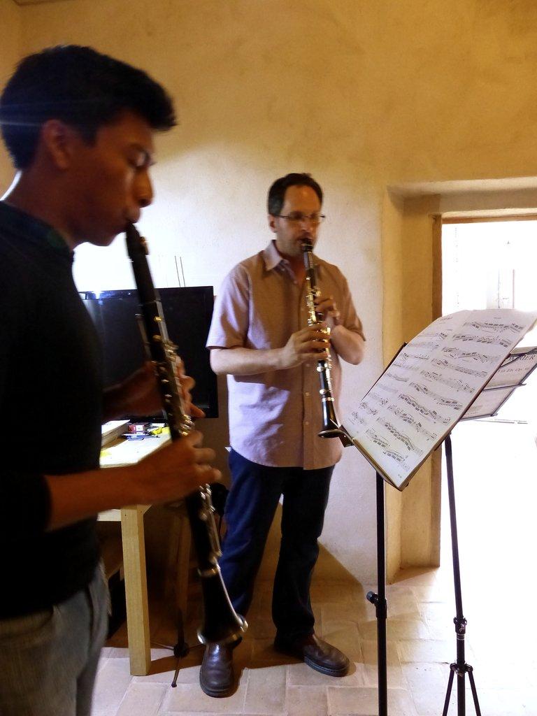 Angel in recording session w/Maestro Chris Davis
