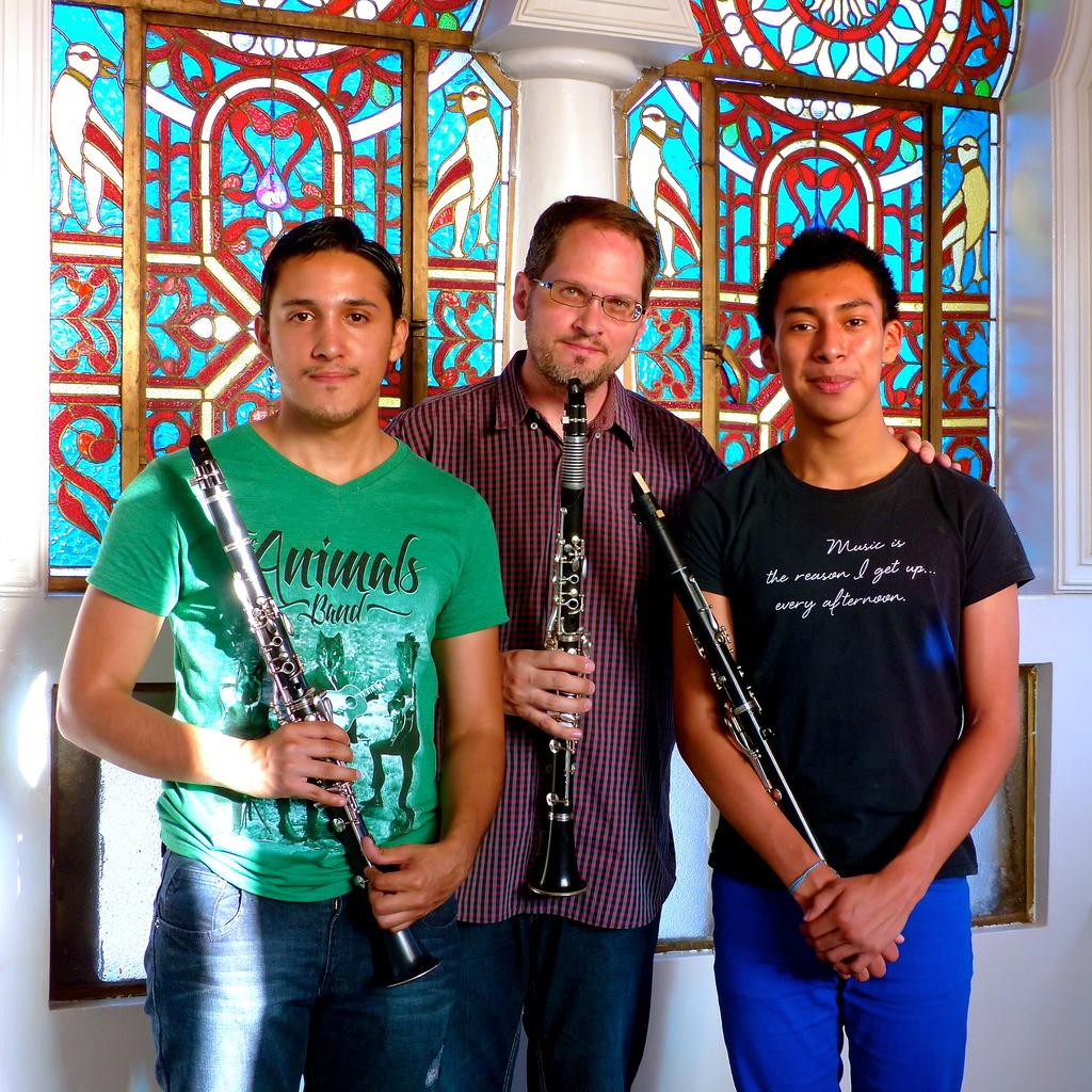 Giovanni, Mr. Davis, and Angel in the music studio
