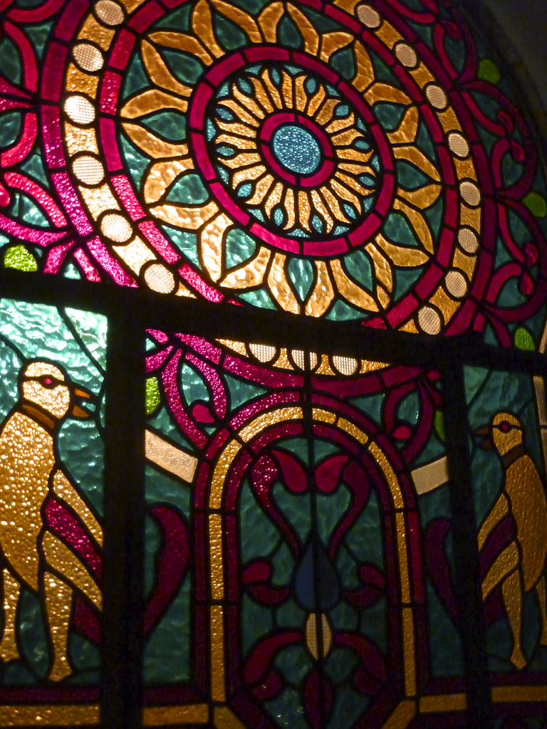 A stained-glass window in our new music studio