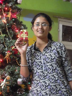 Lakshmi celebrating Christmas